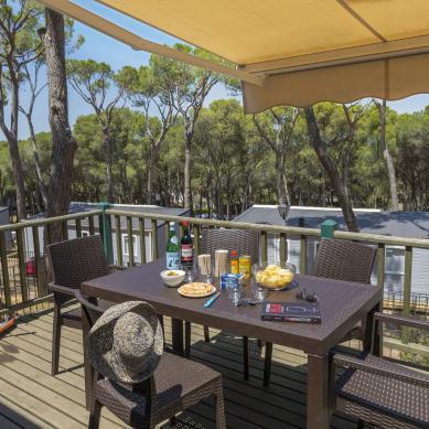 Vistas de la terraza Bungalow Sa Riera Camping & Bungalows Interpals