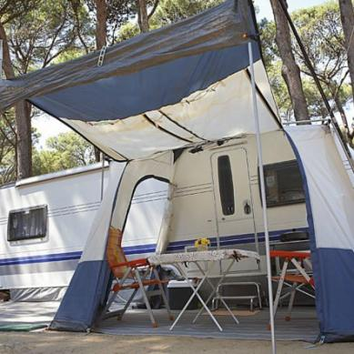 Caravana en Camping & Bungalows Interpals