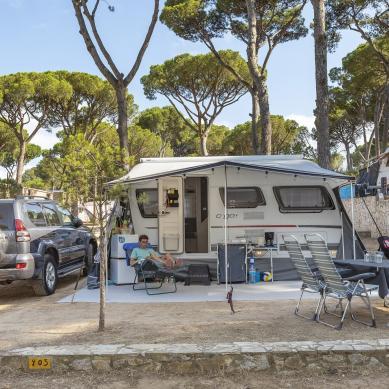 Parcela del camping en Camping & Bungalows Interpals