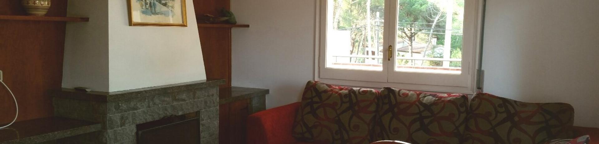 Salón de los apartamentos del Camping Bungalows Interpals