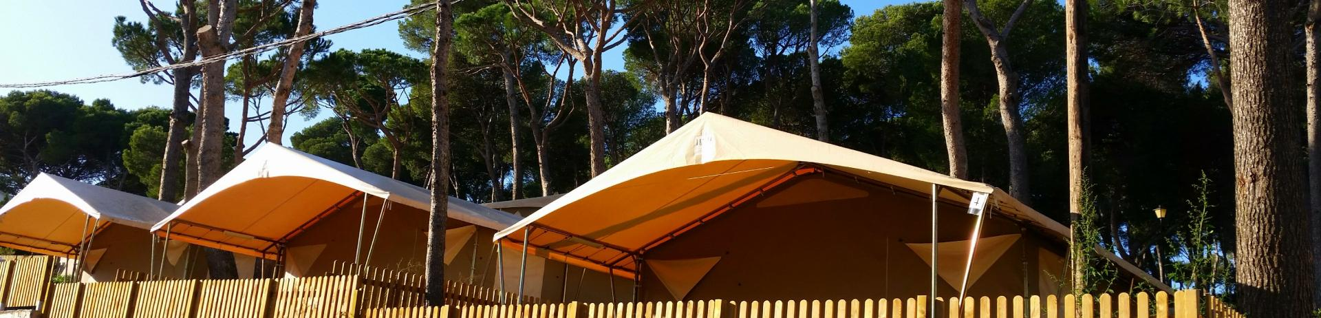 Luxury tents in Pals