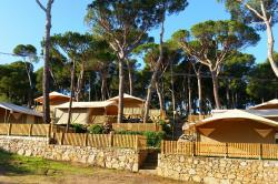 Luxury tents on the Costa Brava