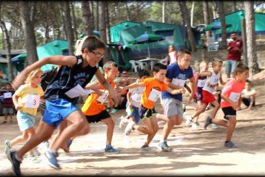 Nens corrents al càmping