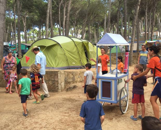 Children's entertainment at Camping Bungalows Interpals