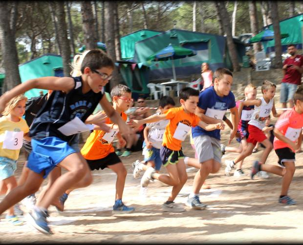 Children's races at the campsite