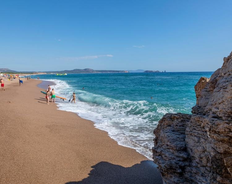 Pals beach on the Costa Brava