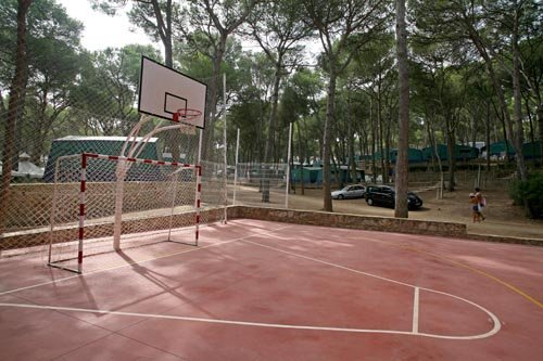 Basket and goal of the camping