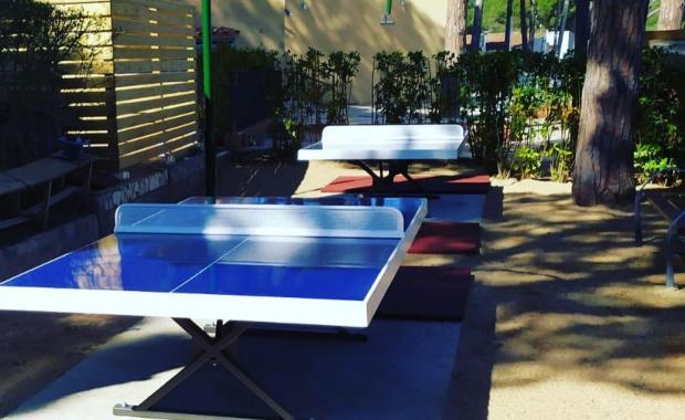 Zona Ping Pong de càmping