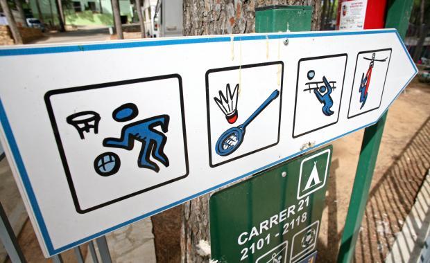 Normas de la zona deportiva del Camping Bungalows Interpals