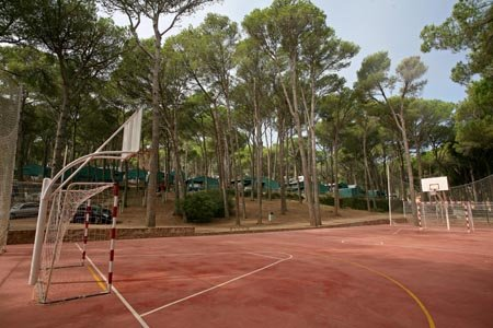 Basketbalveld op Camping Bungalows Interpals