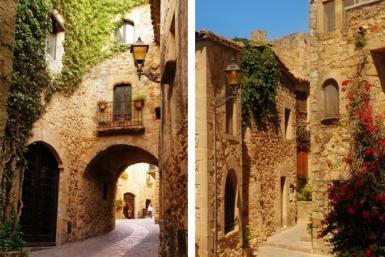 Casas antiguas de la villa de Pals