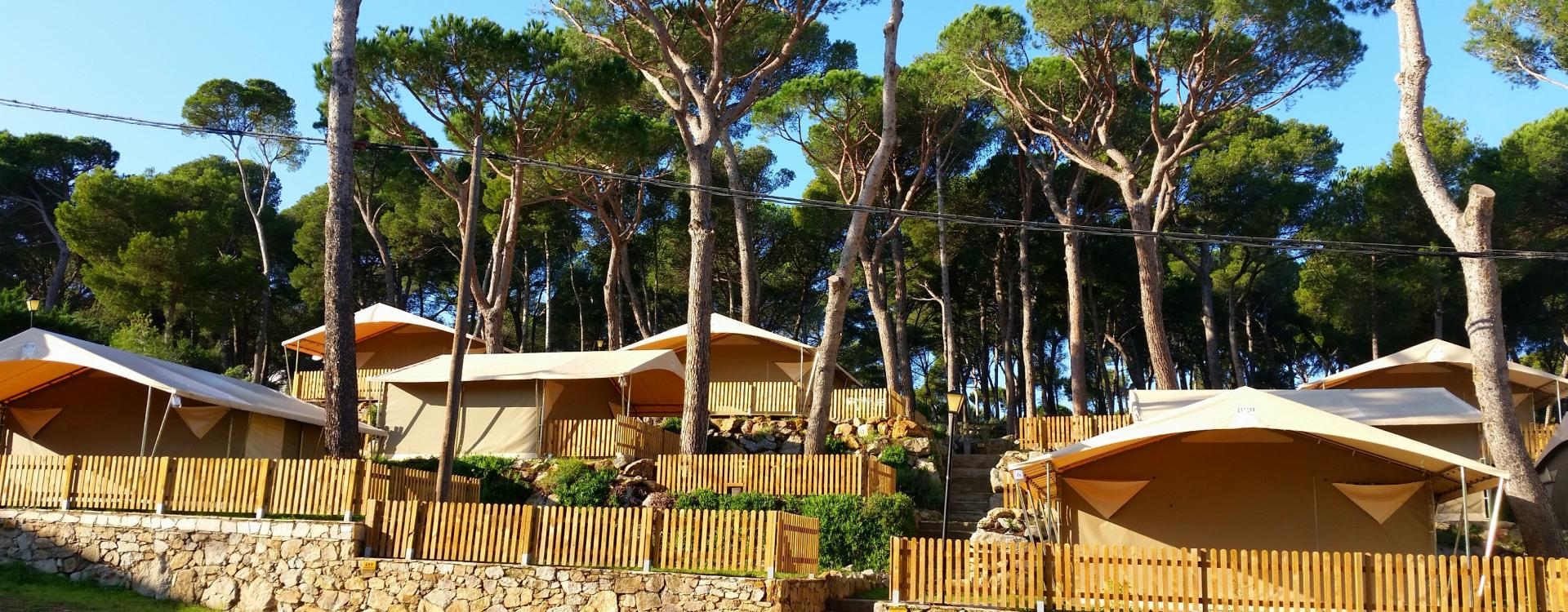 Luxury tent area
