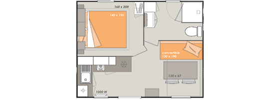 map of the bungalow
