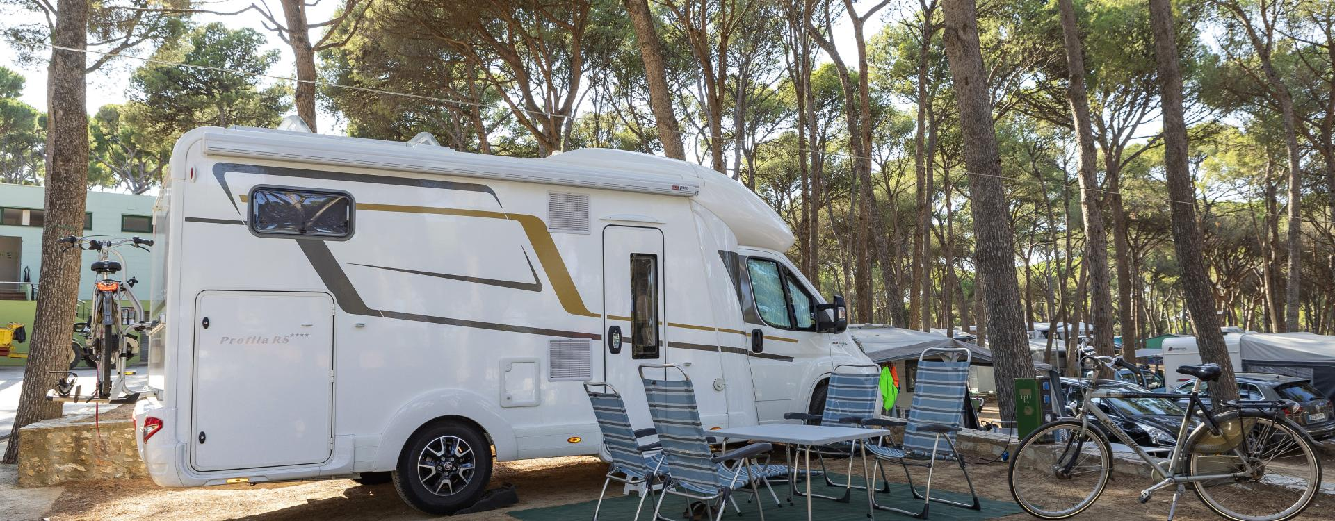 Camping for motorhome in Costa Brava