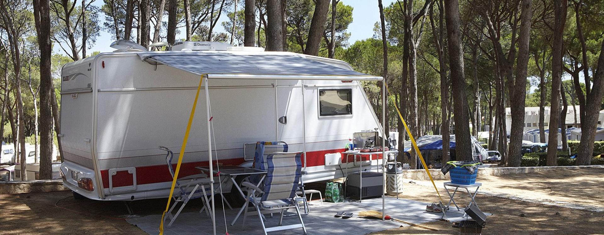 Caravan plot in a campsite in Pals - Costa Brava