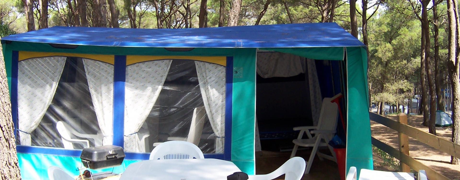 Familietenten op de camping