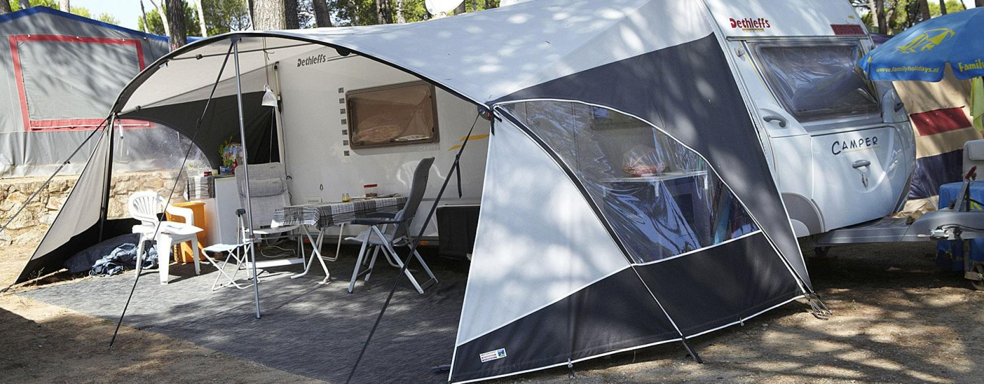 Caravan with tent in Camping Interpals - Spain