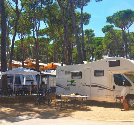 Camping for motorhome in Pals - Costa Brava