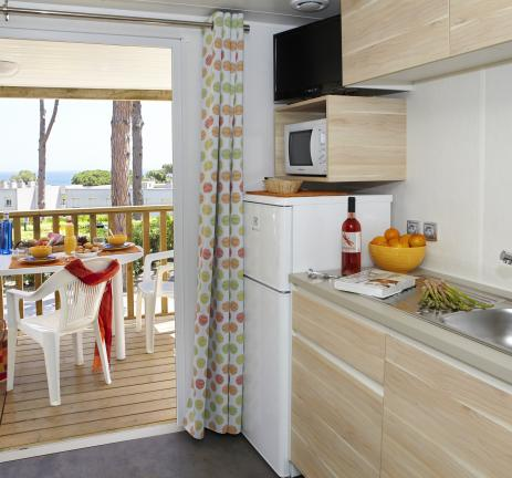Interiors del Garbí Bungalow - Camping & Bungalows Interpals