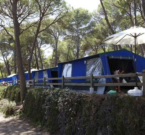 Familietenten op Camping Bungalows Interpals