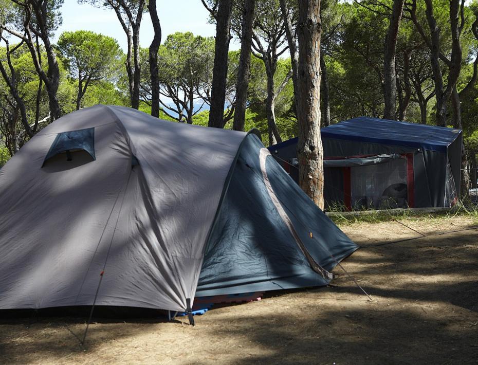 Tienda de campaña en el Camping Interpals - Costa Brava